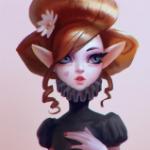 Аватар Эльфийка с ромашкой в волосах и с сердечком на щеке, by Lagunaya
