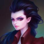 Аватар Темноволосая эльфийка с красными глазами, by Lagunaya
