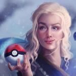 Аватар Daenerys Targaryen / Дейнерис Таргариен из сериала Game Of Trones / Игра Престолов держит в руке покебол, by SandraWinther