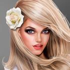 Аватар Блондинка с цветком в волосах