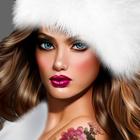 Аватар Девушка в меховой шапке