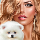 Аватар Девушка со щенком