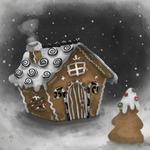 99px.ru аватар Пряничный домик и пряничная елка в снегу