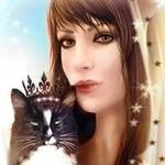 Аватар Девушка и кот в короне, автор Mira