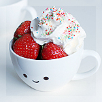 Аватар Милая кружка, наполненная клубникой со сливками, by meganjoy