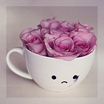 Аватар Грустная кружка с розами, by meganjoy