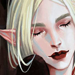 Аватар Белокурая эльфийка закрыла глаза