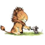 Аватар Лев пожимает лапку мышонку