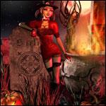 99px.ru аватар Зеленоглазая ведьма в шляпе