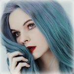 99px.ru аватар Девушка с голубыми волосами, by thefirebomb