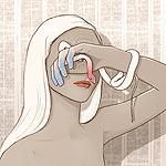 Аватар Девушка закрыла лицо рукой, на ладони которой глаз и которую обвивает змея, by PHAZED