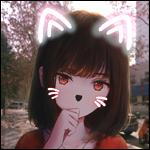 Аватар Девушка с подрисованными кошачьими ушками и усами, by shimmer