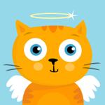 Аватар Рыжий голубоглазый котик с ангельскими крылышками и нимбом