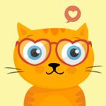 99px.ru аватар Влюбленный рыжий котик в очках-сердечках
