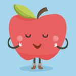 Аватар Мило улыбающееся яблочко