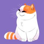 Аватар Довольная рыже-белая кошечка, art by Heather Nesheim