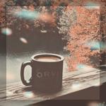 Аватар Чашка с какао стоит на деревянных перилах