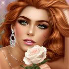 99px.ru аватар Рыжая зеленоглазая девушка с розой
