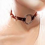 Аватар Девушка, шею которой украшает кожаный ошейник с шипами