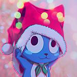 Аватар Хэппи / Happy из аниме Сказка о Хвосте феи / Хвост феи / Фейри Тейл / Fairy Tail поправляет новогодний колпак