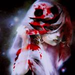 Аватар Девочка-призрак в окровавленной простыне с жутким лицом, by Yuumei