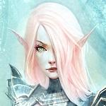 Аватар Эльфийка с розовыми волосами в доспехах