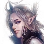 Аватар Эльфийка с серебряными волосами и меткой на лбу