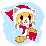 Аватар Красная панда в новогоднем костюме
