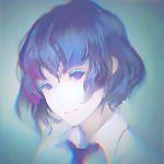 99px.ru аватар Девушка с синими волосами, by Yuumei