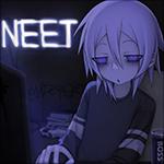 Аватар Хикки-кун сидит за компьютером (NEET)