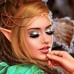 Аватар Эльфийка с серебристыми тенями