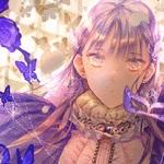 Аватар Девочка с маской и бабочками перед ней