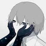 Аватар Руки с ночным небом трогают лицо уставшего мальчика