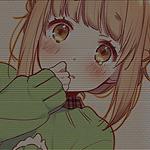 Аватар Анимешная девушка смущается