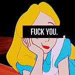 Аватар Алиса из мультфильма Алиса в стране чудес / Alice In Wonderland (FUCK YOU.)