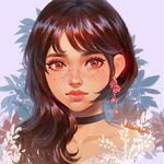Аватар Девушка с розовой сережкой в ухе, by Karmen Loh