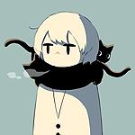 Аватар Мальчик в шарфе из черных котов