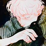 Аватар Белокурый парень держит ворона
