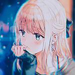 Аватар Задумчивая анимешная девушка сидит у окна