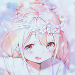 Аватар Девочка поправляет венок
