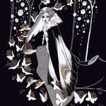 Аватар Девушка стоит перед бабочками