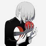 Аватар Мальчик с дырой в груди, через которую серая рука протягивает ему яблоко, by avogado6