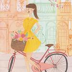 Аватар Девушка с велосипедом