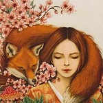 Аватар Девушка с рыжей лисой