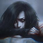 Аватар Темноволосая девушка с окровавленными царапинами на спине, by NanFe
