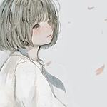 Аватар Девушка под падающими лепестками
