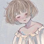 Аватар Девушка плачет на сером фоне