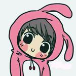 Аватар Чибик в розовом костюме кролика
