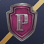 Аватар Значок старосты факультета / Prefects badge на фоне цветов факультета Рэйвенклоу / Ravenclaw школы Хогвартс / Hogwarts