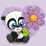 Аватар Панда с цветком